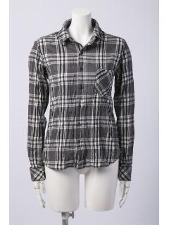 チェッククリンクル2WAYシャツ