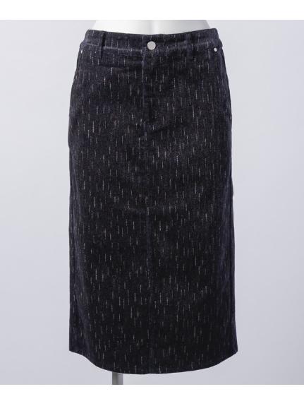 aurea (アウレア) コールテンタイトミディースカート ネイビー