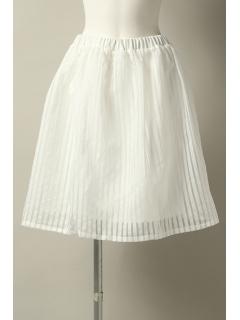 シャドーストライプギャザースカート