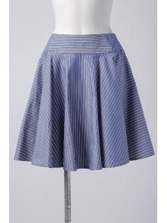 ストライプフレアスカート