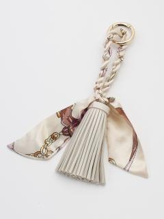 スカーフ付タッセルキーリング
