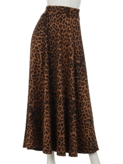 aureaアニマル柄ロングスカート