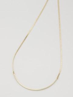 aureaシンプルゴールドカラーネックレス