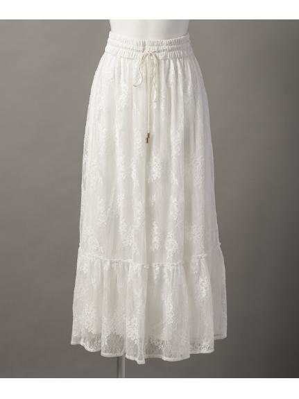 aurea (アウレア) ティーアードスカート ホワイト