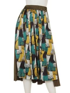 aureaアシンメトリープリーツスカート