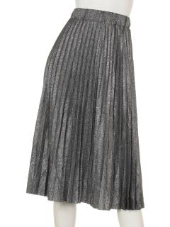 シルバープリーツスカート