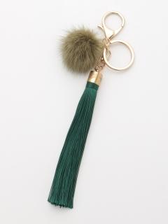 糸タッセルキーリング