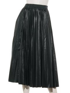 コーティングプリーツスカート
