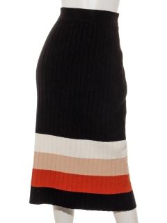マルチボーダータイトスカート