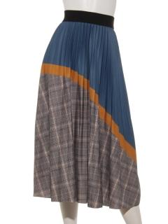 チェック切替プリーツスカート