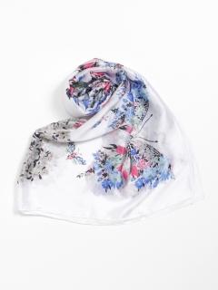 フラワーバタフライ柄スカーフ