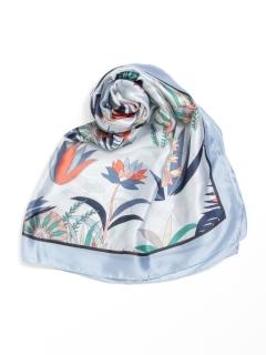 レトロ草木柄スカーフ