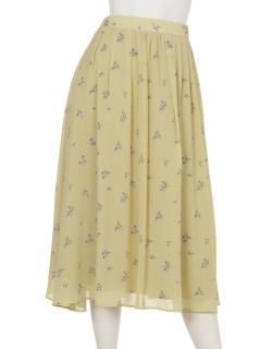 フラワーフレアースカート