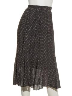 水玉ロングスカート