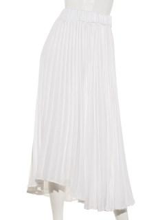 ホワイトプリーツスカート
