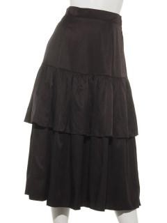 2段フリルプリーツスカート