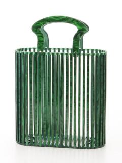 プラスチックメッシュハンドバッグ