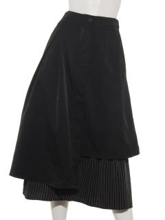 アシンメトリーストライプスカート