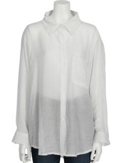 透け感シンプルシャツ