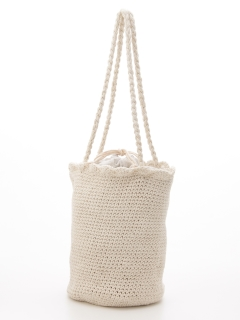 コットン編みバッグ
