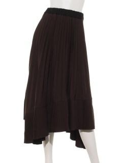 2段プリーツスカート