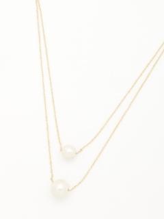 コットンパール2連ネックレス