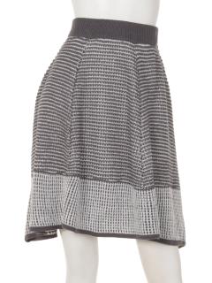【Trois Berry】バイカラーニットスカート