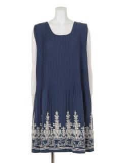 【Ange dodu】裾刺繍プリーツジャンパースカート
