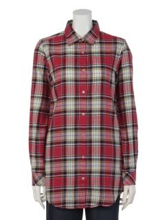 【Tricott Muge】TMロングチェックシャツ