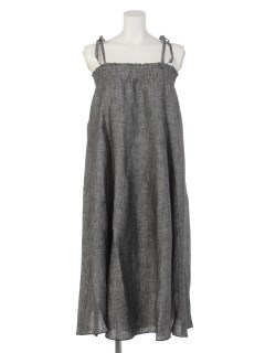 【Rejoove】RJVシャンブレーリネンの2Wayワンピーススカート