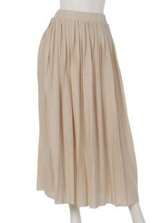 【Rejoove】カットソープリーツのマキシスカート