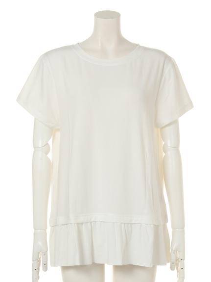 MALIANI (マリアーニ) 【Tricott Muge】大人フリルTシャツ ホワイト
