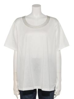 【Ange dodu】衿ぐりキラメキ刺繍プルオーバー