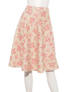 【arielme】珊瑚プリントのフレアースカート