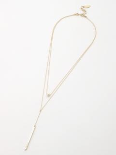 【Rejoove】コットンパールとスティックモチーフの2連ネックレス