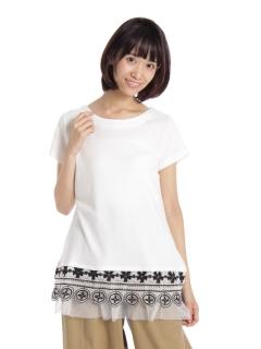 【INDEX MAGIC】IM2トーンレースハンソデTシャツ