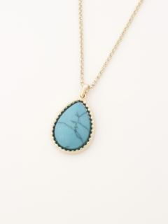 【Rejoove】天然石のドロップ型ネックレス