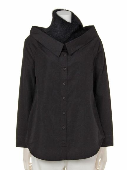 BARAK (バラク) ・2ピースオフショルシャツ ブラック