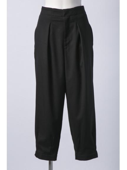 CAPRICIEUX LE'MAGE (カプリシューレマージュ) 裾ベルトユルテーパード ブラック