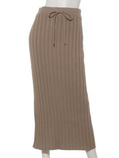 ワイドリブニットスカート