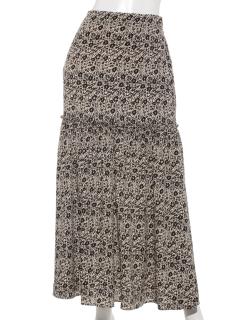 花柄フリルギャザースカート