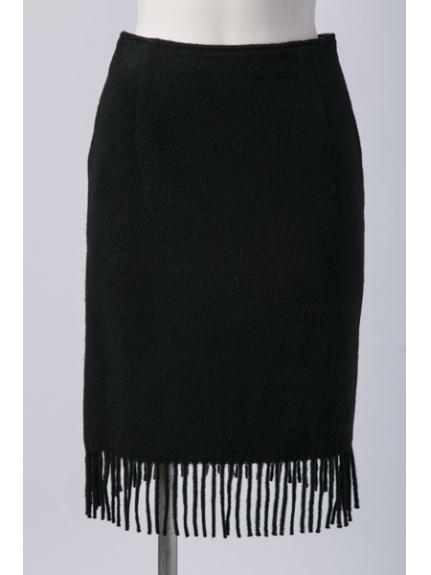 Chez toi (シェトワ) フリンジタイトスカート ブラック