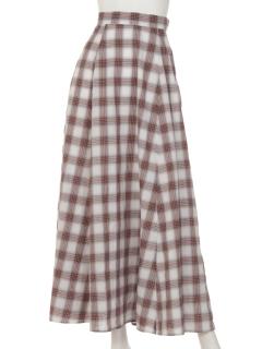 オンブレーチェックマキシスカート