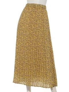 花柄プリントプリーツスカート