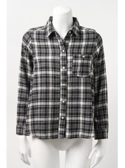 CIAOPANIC TYPY (チャオパニックティピー) チェックカシュクールシャツ ブラック