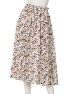・レトロフラワーギャザースカート