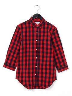 ・ブロックチェック2ウェイカラーシャツ