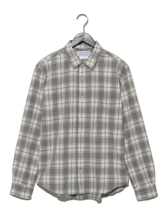 モノトーンビエラチェックシャツ