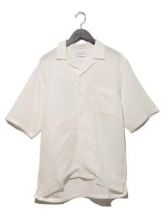 アサレーヨンオープンカラーシャツ