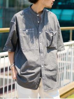 ヴィンテージ風シャンブレーオーバーシャツ